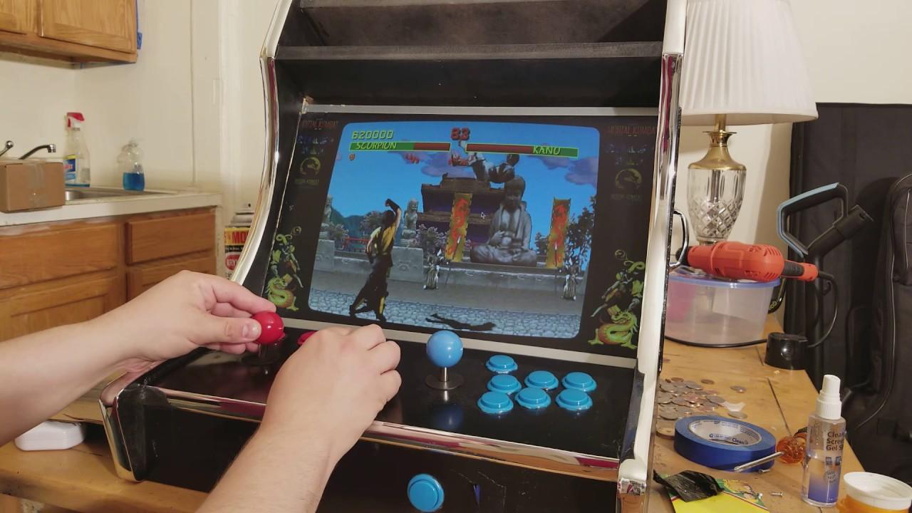 Mortal Kombat 1 on Steam link bartop arcade - YouTube