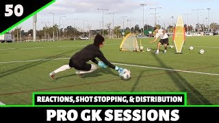 Reaction Saves, Shot Stopping & Distribution | Goalkeeper Training | Pro Gk
