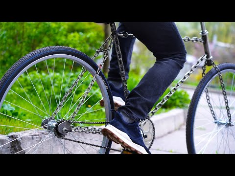AMAZING Bicycle out of Chains #shorts thumbnail