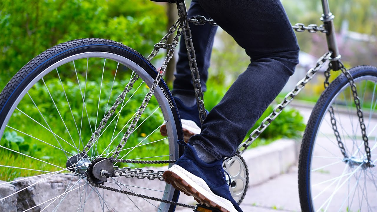 AMAZING Bicycle out of Chains #shorts