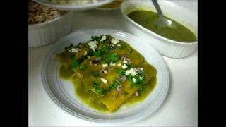 Authentic Green Enchiladas / Enchiladas Verdes