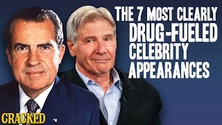 The  7 Most Clearly Drug-Fueled Celebrity Appearances - The Spit Take
