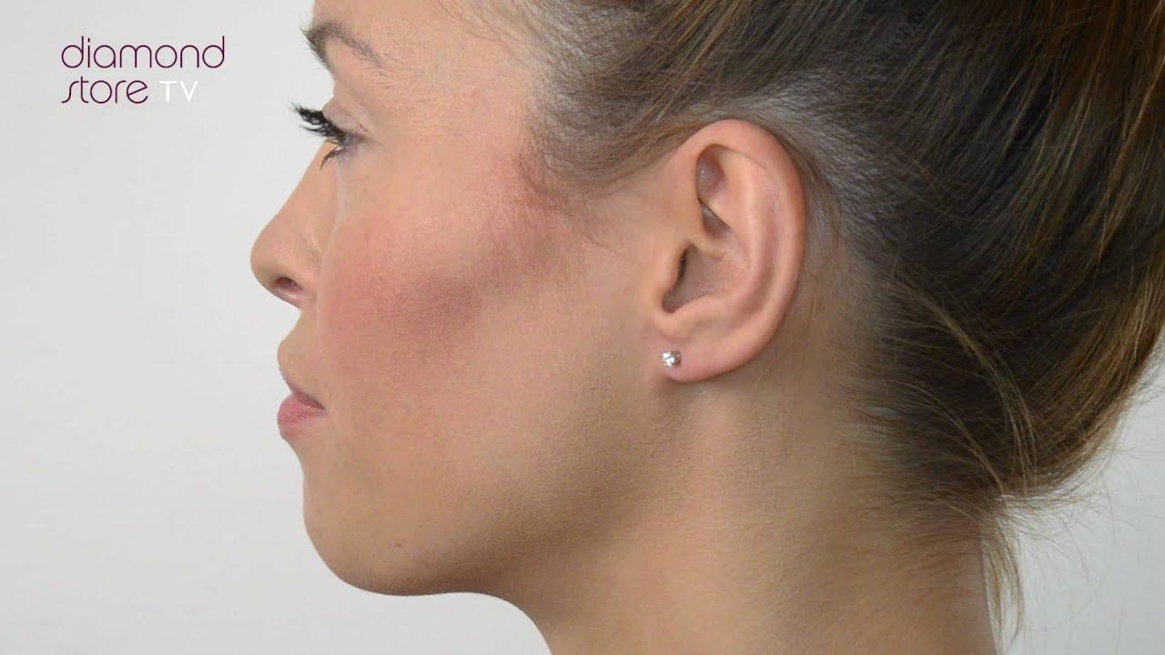 Diamond 0 20ct Stud Earrings In 18K White Gold FG23 42Y