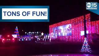 الإضاءة من الألف إلى الياء! أريزونا أطول ألمع ضوء عطلة عرض - ABC15 الرقمية