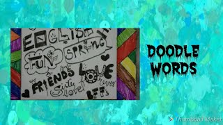 Doodling words/How to turn word into doodle/Simple word Doodling/Create word Doodle/Easy doodle word