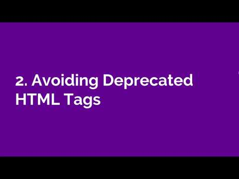 Deprecated HTML Tags