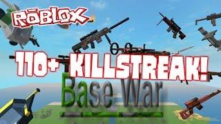 ROBLOX: Base Wars - 110+ Killstreak!