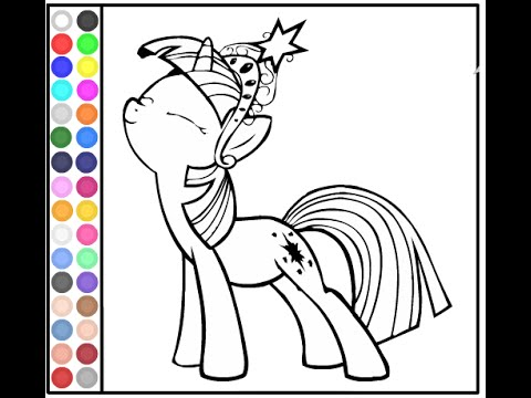 My Little Pony Coloring Pages Online YouTube
