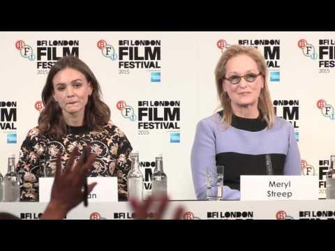 Suffragette – BFI LFF Press Conference – Sarah Gavron, Carey Mulligan, Meryl Streep, Abi Morgan
