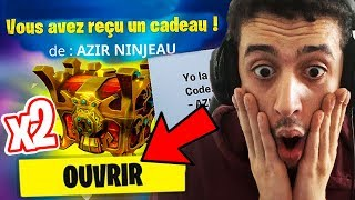 I received 2 LEGENDARY CADEAUX ON FORTNITE. (pack opening)
