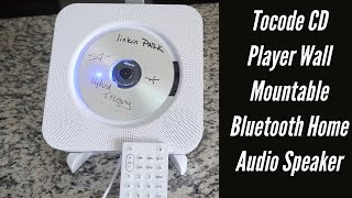 Amazing Tocode CD Player Wall Mountable Bluetooth Home Audio Speaker | Unboxing And Review w