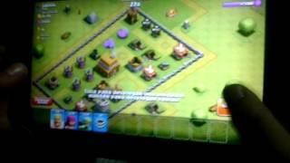 Mi primo en clash of clans pierde en una batalla