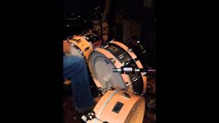 skinny bass drum 6 x 22 demonstration video by side kick drums