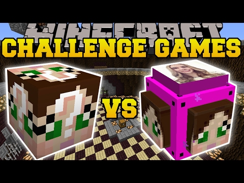 Thumbnail: Minecraft: GAMINGWITHJEN VS GAMINGWITHJEN CHALLENGE GAMES - Lucky Block Mod - Modded Mini-Game