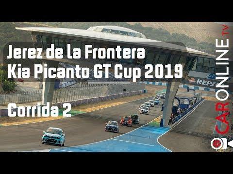 SEGUNDA CORRIDA em Jerez de la Frontera DEU TRABALHO | Onboard KIA PICANTO GT CUP