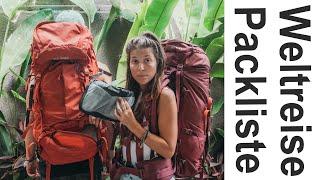 Packliste für eine Weltreise - Das brauchst du wirklich! l Unsere Tipps nach 1,5 Jahren Reise