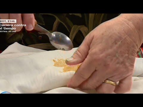 Limpiar manchas de dulce de leche