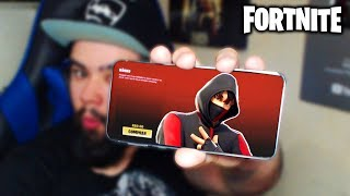 I WON the IKONIK SKIN exclusive of the Galaxy S10-Fortnite