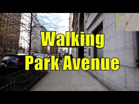 ⁴ᴷ Walking Tour of Upper East Side & Carnegie Hill, Manhattan, NYC - Park Avenue (GPS Overlay)