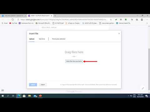 HOW TO ATTACH FILE IN GOOGLE FORM?