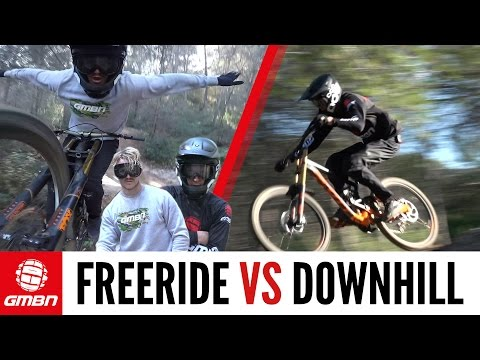 Freerider Vs Downhill Racer