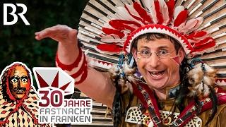 Oti Schmelzer als fränkischer Indianer