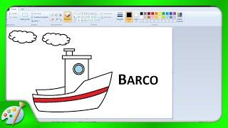 Dibujos para niños con Paint: Cómo dibujar un Barco