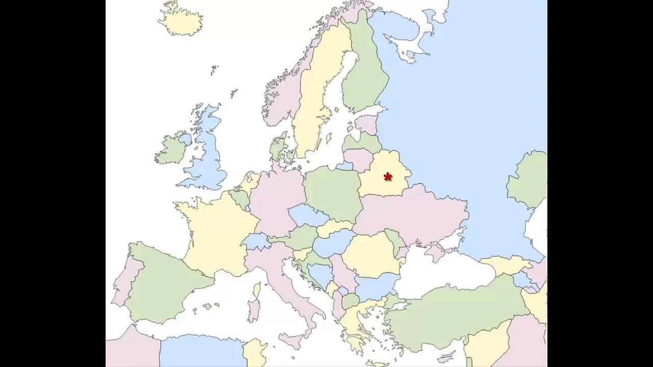 Mapa poltico de Europa Actualizado 2017 Pases  YouTube