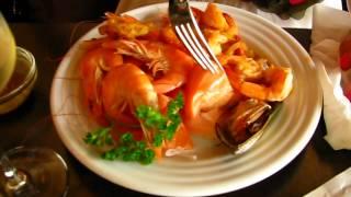 Crevettes, saumon et fruits de mer au restaurant Comme chez soi (buffet à volonté) à Paris