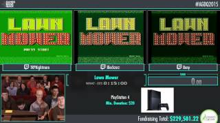 Awesome Games Done Quick 2015 - Part 52 - Lawn Mower by Bony, Nightmare, and Blechy