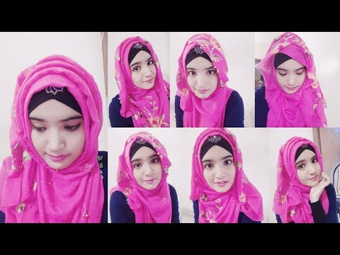 4 Easy Casual hijab styles for Beginner's||Easy & simple party hijab with 4 Styles