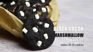 Black Cocoa Marshmallow Cookies Recipe Video | Bakestarters