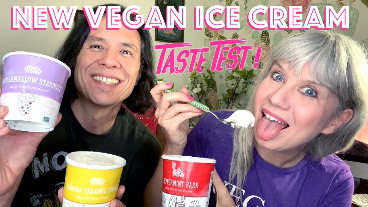 NEW Holiday Ice Cream! Taste Test of Nadamoo Peppermint Bark
