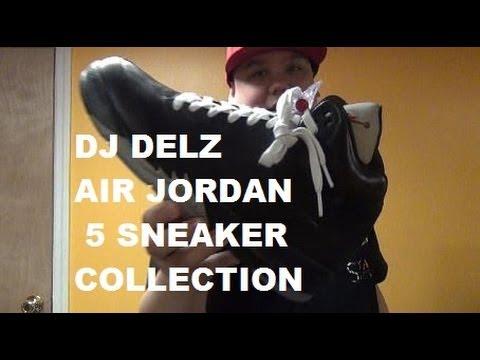 Air Jordan 5 V Sneaker Collection Of Dj Delz - YouTube 7f86805de