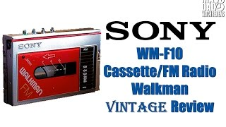 80's Vintage Review! | Sony Cassette Walkman WM-10 & WM-F10 | Tons Of Great Memories!