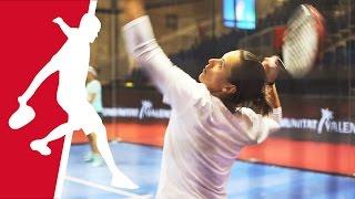 Las tenistas Anabel Medina y Sara Errani preparadas para Valencia Master