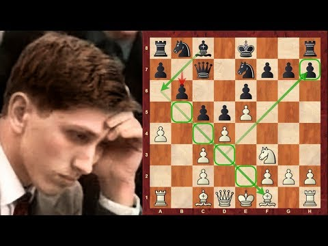 Chess Game: Bobby Fischer's Winawer system against the French Defence: vs Darga : 1960