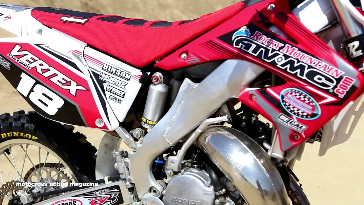Motocross Action Tests A 2003 Honda CR125 2 Stroke Project Bike
