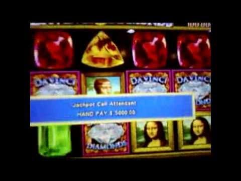 Jackpot $ 5000 on Da Vinci Diamonds slots on 5c! - Casino - 동영상