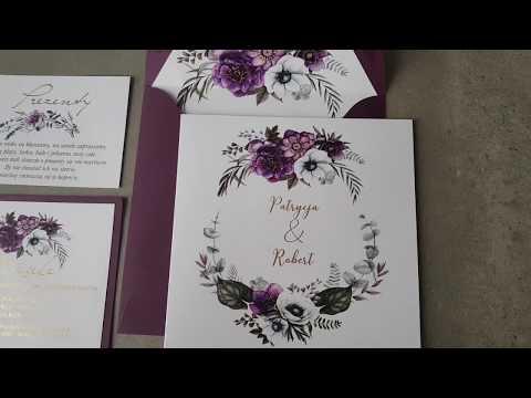 Zaproszenia ślubne Cykade nr 1 video