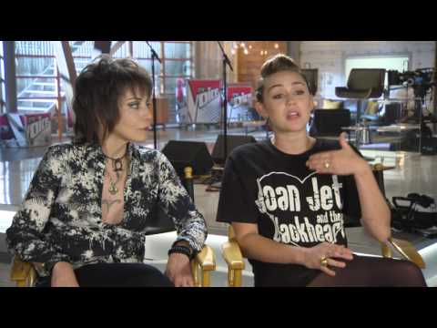 Miley Cyrus and Joan Jett Talk The Voice-Part 1
