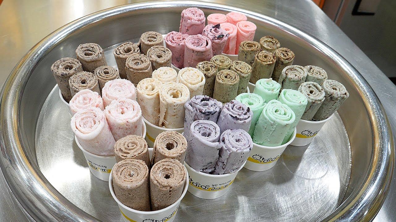 철판 아이스크림 / iron plate ice cream master / korean street food