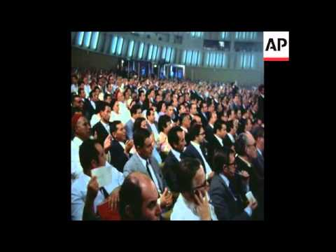 SYND 13/10/1971 PRESIDENT HABIB BOURGUIBA OPENS TUNISIAN PARTY CONGRESS