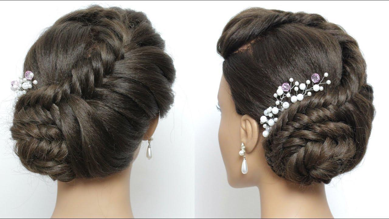 side juda hairstyle for long hair tutorial. bridal braid updo