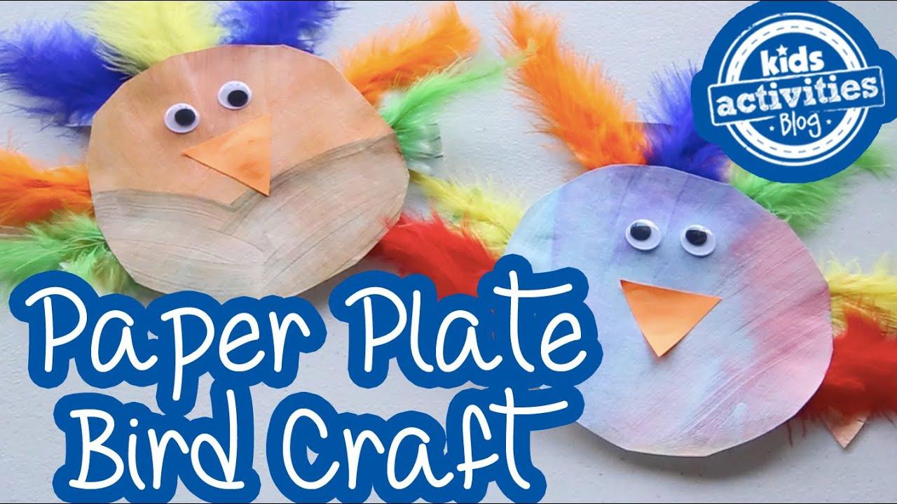 Paper Plate Bird Craft  sc 1 st  YouTube & Paper Plate Bird Craft - YouTube