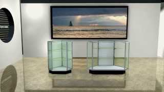 Sturdy Streamline Corner Display Cases