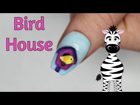 3D Bird House Acrylic Nail Art Tutorial thumbnail