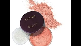 lakme rose powder warm pink review in hindi