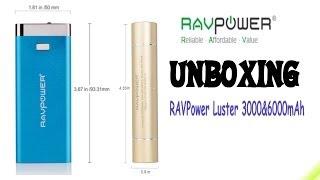 RAVPower Luster 3000 & 6000mAh Power Bank Unboxing