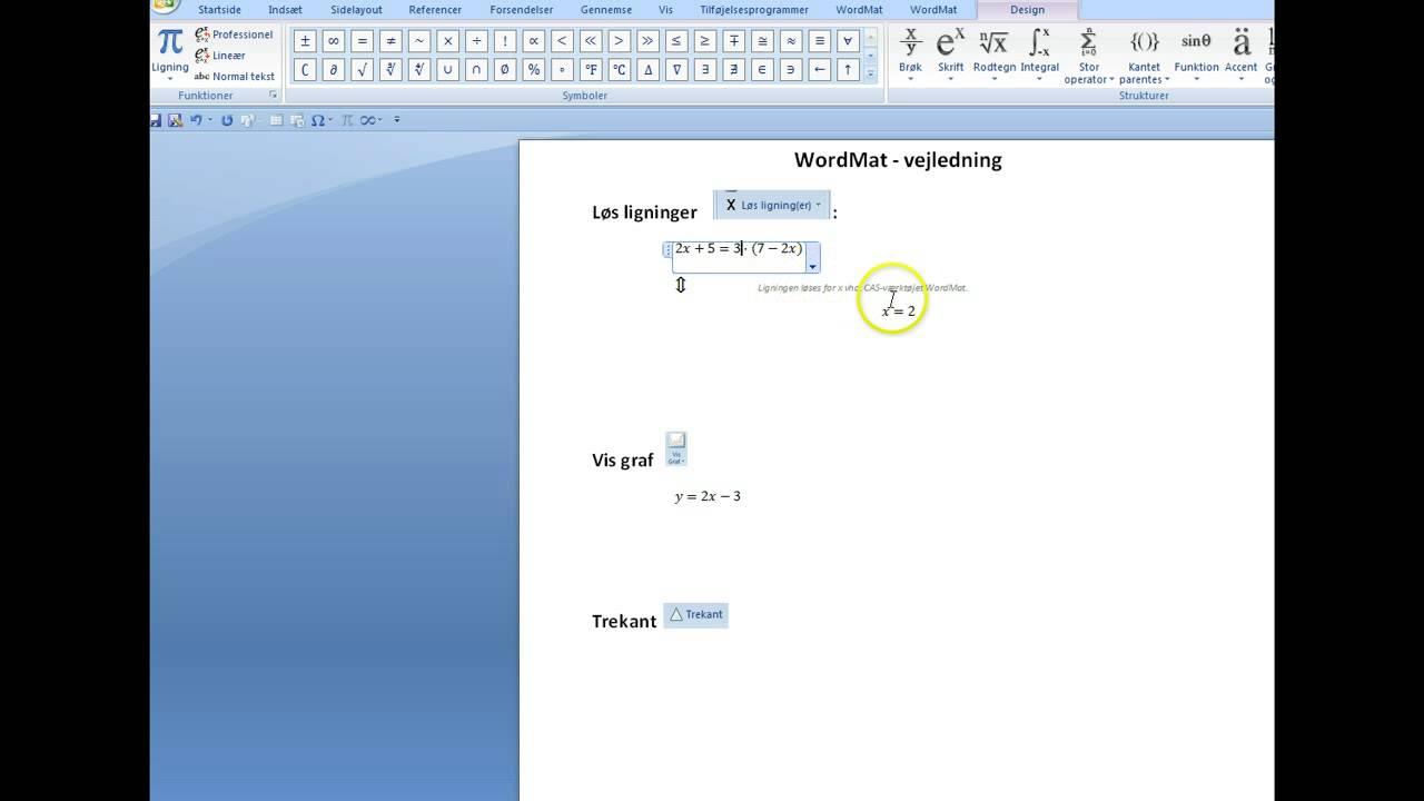 WordMat vejledning